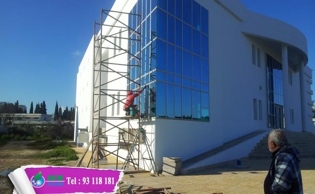nettoyage facade vitre
